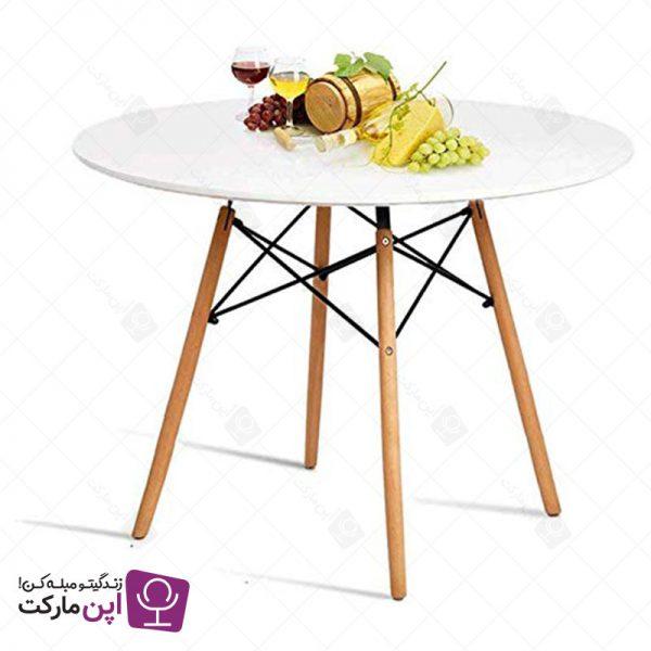میز ناهارخوری ایفلی مدل گرد چهار نفره ایمز
