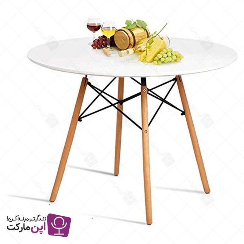 میز ناهار خوری گرد پایه ایفلی