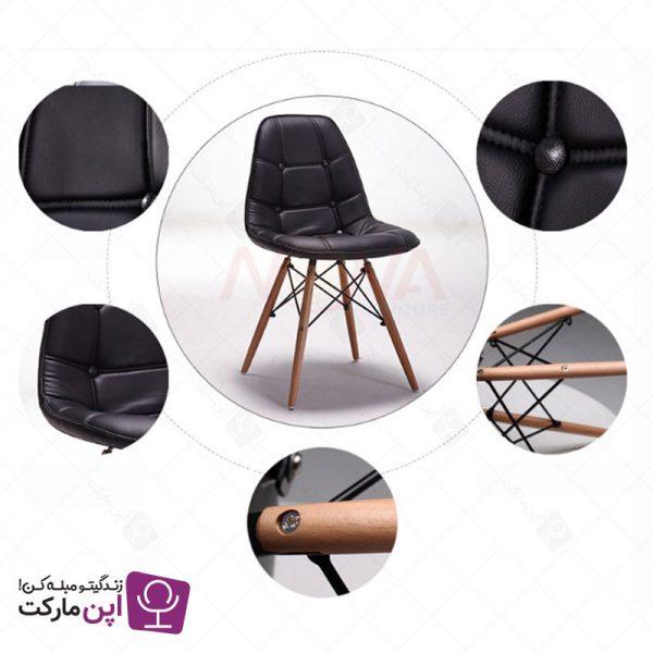 صندلی ناهارخوری لاریس لمسه پارچه ای