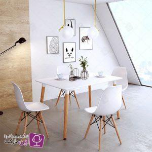 میز و صندلی ناهارخوری فایبر گلاس