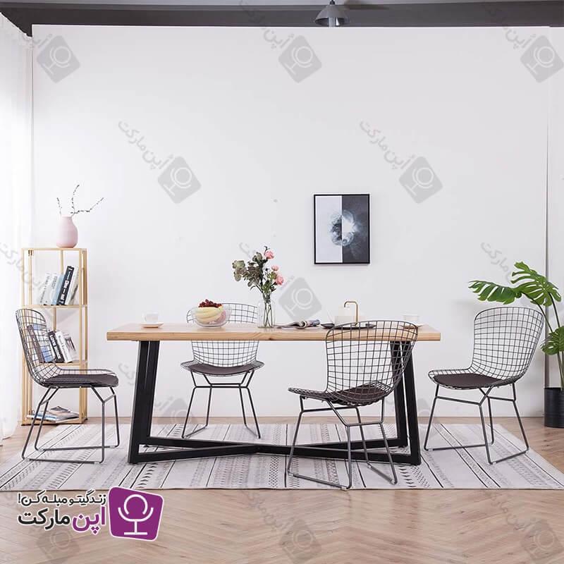 صندلی ناهارخوری فلزی