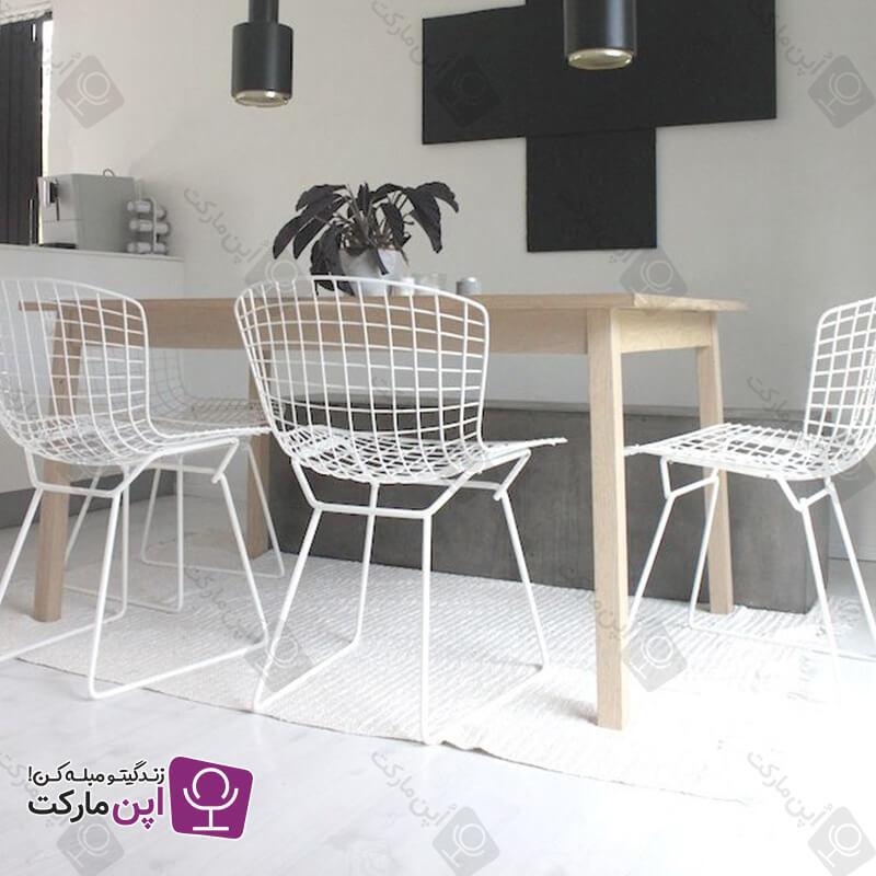 صندلی فلزی ناهارخوری