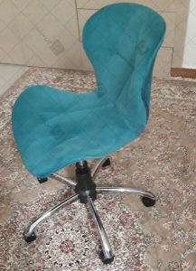 صندلی مطالعه لارا پایه گردان پارچه ای